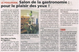 Article Salon de la Gastronomie